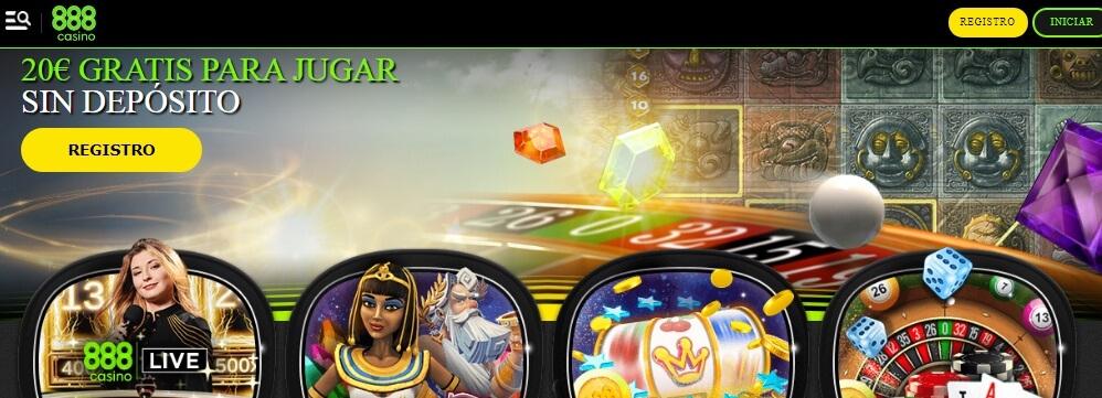 Interfaz de 888 Casino