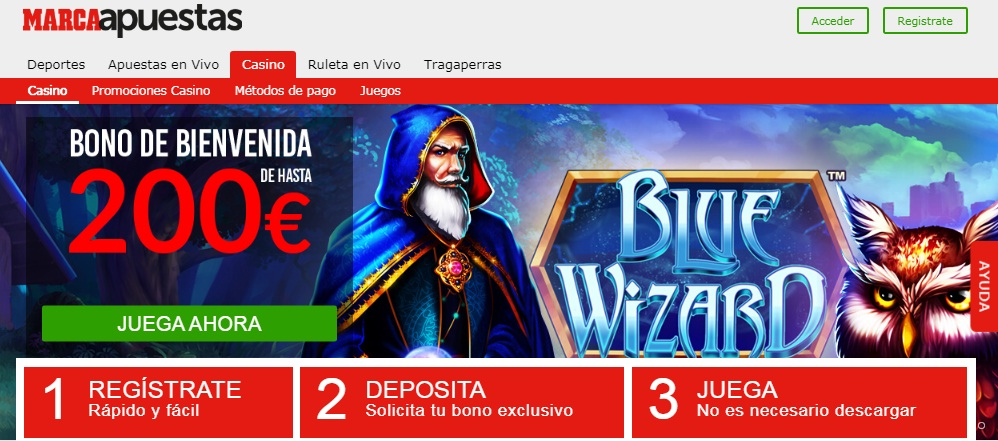 Marca Casino Interfaz