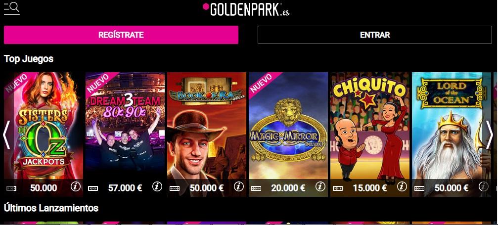 Goldenpark interfaz