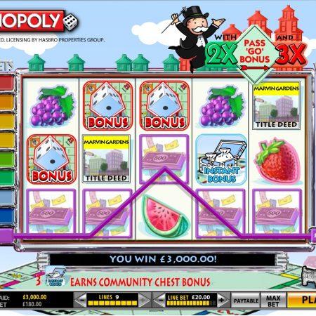 Descubre todas las tragaperras slots de Monopoly