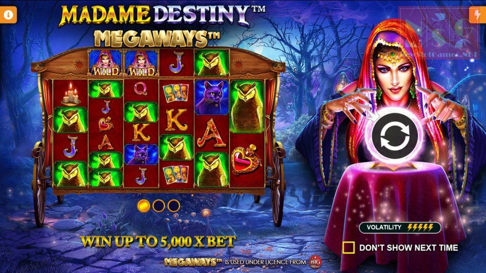 Magia e ilusión con la slot Madame Destiny Megaways