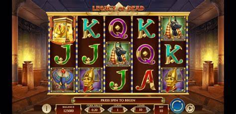 Tesoros de la antigüedad en Legacy of Dead slot