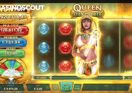 Múltiples jackpots en la slot Queen of Alexandria